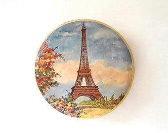 Paris France 1970 metal box