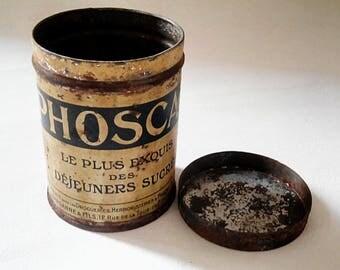 Lunch box vintage Phoscao, France 1930