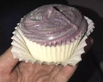 Homemade soap cupcake