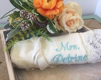 Custom bridesmaid robes set of 9, bridesmaid gifts, cotton lace robes, bridal robes, wedding gifts, getting ready robes, bridal party robes