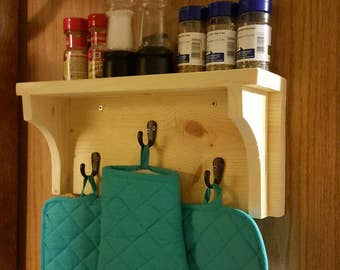 Small Wooden Hanger Shelf