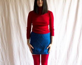Blue Wool Skirt