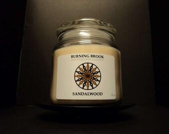 Sandalwood 16oz Soy Wood Wick Candle