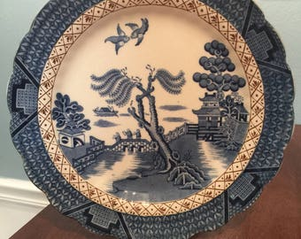 Vintage Booths Real Old Willow Dinner Plate