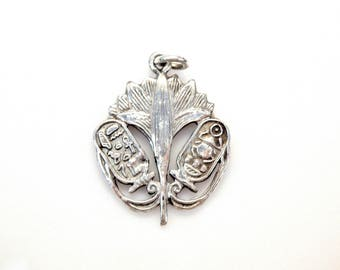 Sterling Silver Khepri God Egyptian Pendant