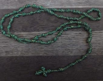 Knotted Rosary- Irish Spring Color