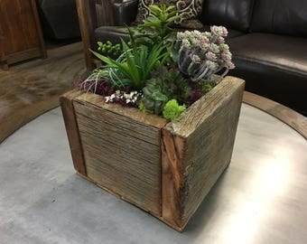 Reclaimed Barnwood Planter Box