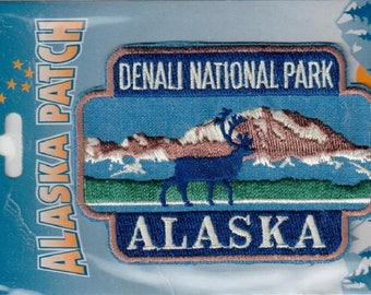 Alaska Iron On Patch Denali National Park