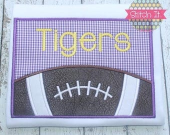 Personalized Tiger Football appliqued shirt - Geaux - Boys - Football - Sports