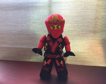 lego inspired plush red