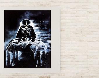 Vader, star wars, acrylic, original paint, 24 x 30 in