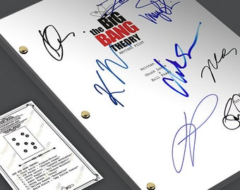 The Big Bang Theory Episode TV Script Screenplay - Signed Autograph Reprint - Jim Parson, Johnny Galacki, Kaley Kuoco, Melissa Raunch