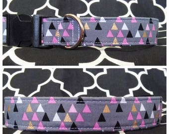Love Triangle Dog Collar / Martingale