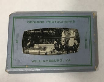 1940's | Grogan Photo Service | mini photos of Williamsburg, VA