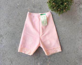 Pink 1950's Girdle/ Garter Shorts