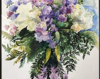 Watercolor Painting 'Flowers'