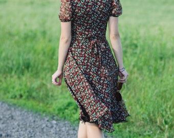Retro chiffon dress