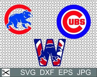 Chicago Cubs Logo SVG Eps Dxf Jpeg Vector Digital Download Cut File Silhouette Studio Cameo Cricut Design Decal Vinyl Stencil Template