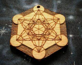 Metatron's Cube Talisman / Amulet / Sacred Geometry Pendant