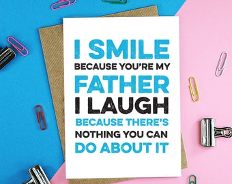 I smile father's day card