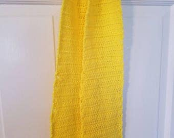 Yellow neck scarf