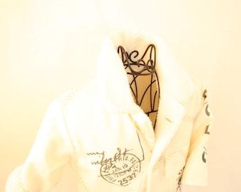 Kids jacket in cream, size 80/86
