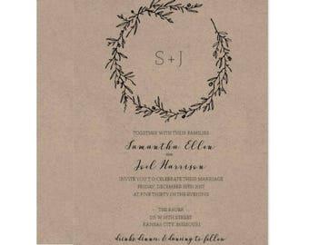 Botanical Floral Wedding Invitation