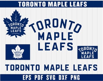 Toronto Maple Leafs Cut Files, SVG Files, Hockey Clipart, Cricut Toronto Maple Leafs Cutting Files, Hockey DXF, Instant Download