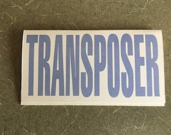 Pitch transposer