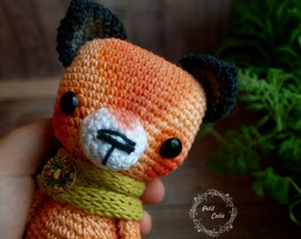 sale,animal,crochet,fox,crochet foxy,kawaii fox,kitsune amigurumi,orange fox,chibi amigurumi fox