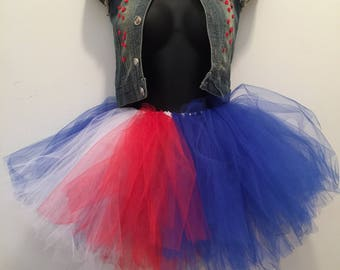 Red, White, Blue, Tutu Set, Tutu, Toddler, 5T, Fourth Of July, Special Occasion, USA Tutu, Embellished Vest, Embellishments
