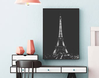 Eiffel Tower Night Lights Photo (Paris,France,Travel Photography,Wall Art Prints,Printable,Mom Gift,Digital Prints,Mothers Day,Download)