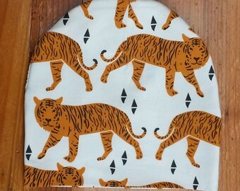 Tiger Print Toddler Beanie