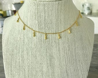 Gold Teardrop Choker