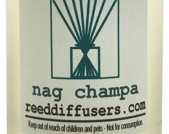 8 oz Nag Champa Fragrance Reed Diffuser Oil Refill with reeds- Made in the USA