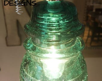 Antique Glass Insulator Pendant Light