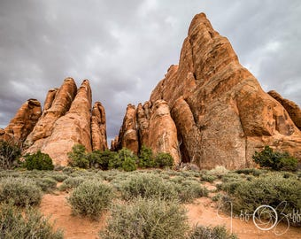 Rock Formations, Arches, Canyonlands National Park, Scenic photography, Landscape print