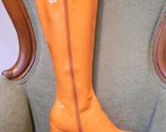 Women's Go Go Boots Orange Size 8