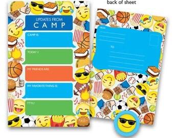Camp Seal-N-Send Stationery - Emoji Boy