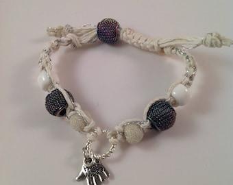 White macrame bracelet