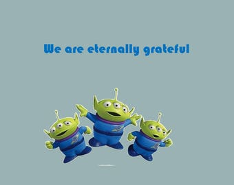Green Alien Thank you Card