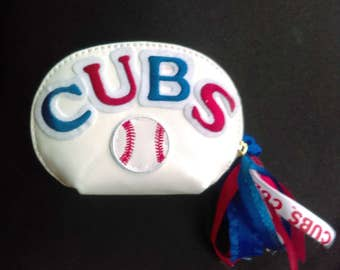 Chicago Cubs Leather change purse