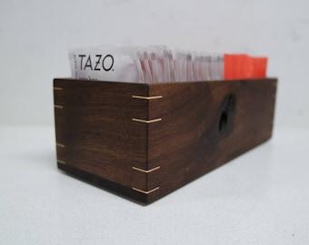 Walnut Teabag Box