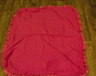 Unicorn Pink ruffle blanket