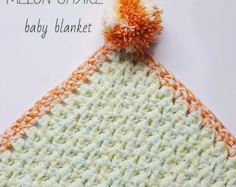 Melon Shake baby blanket pdf crochet pattern