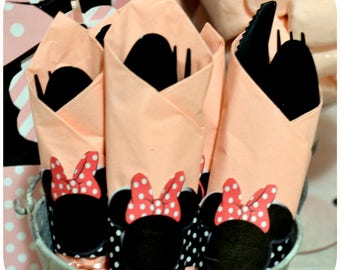 Minnie Mouse; Minnie; Minnie Mouse Napkin Rings; Minnie Mouse Party; Minnie Mouse Birthday Party Print, Cut, and Shipped!
