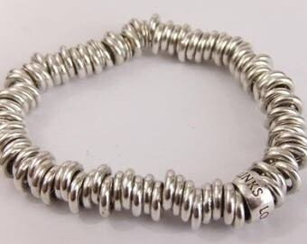 Authentic Links of London Sterling Silver Sweetie Charm Bracelet 59.3g 17cm