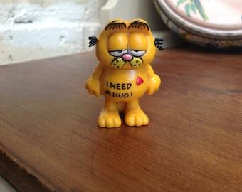 Vintage plastic Garfield figure toy 1980s