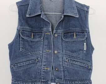 Vintage Guess Denim Vest // Women's Large