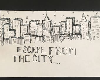 Escape From The City Drawings!!